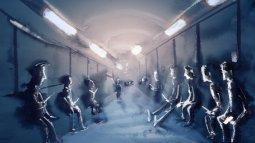 68-Thuiskomst Passagiers in metro